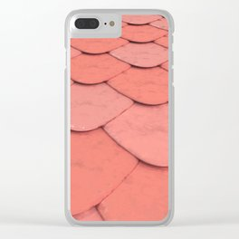 Pattern of red rounded roof tiles Clear iPhone Case