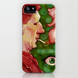 Of Pigs and Big Brothers iPhone Case