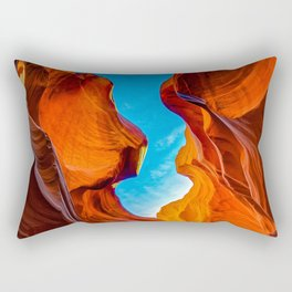 Sand & Sky Antelope Canyon Arizona Southwest Landscape Rectangular Pillow
