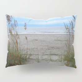 Beach Dreams: Sea Oats by the ocean Pillow Sham