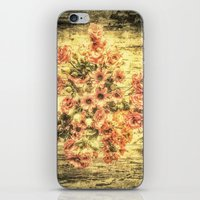 shabby chic iPhone & iPod Skins featuring Vintage Shabby Chic Bouquet by Joke Vermeer