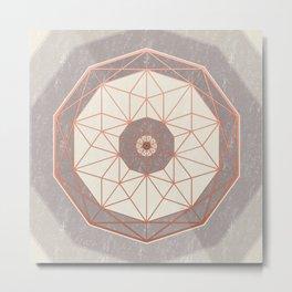 Geodis Magic Ivory Metal Print