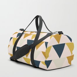 Arrows Pattern in Blush and Mustard and Navy Blue and Taupe Duffle Bag