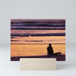 Surfing Sunset Chill Mini Art Print