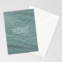 Normality is Overrated Stationery Cards