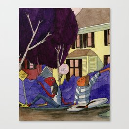 Dead End Frog Kids Canvas Print
