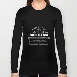 Passing The Bar Exam Is Easy As Riding A Bike For Lawyers Long Sleeve T-shirt