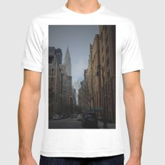 NY bluff MEDIUM White Mens Fitted Tee