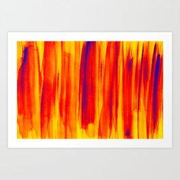 hot colors Art Print