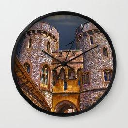 Norman Gate, Windsor Castle , England Wall Clock