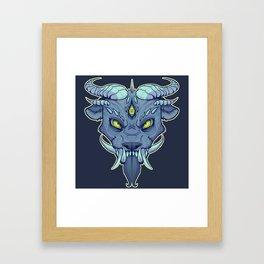 Oni Japanese Mask Framed Art Print