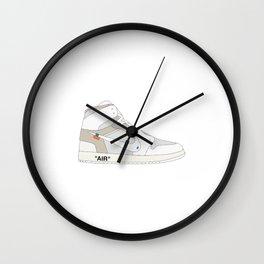 """N I K E AIR JORDAN THE 10: AIR JORDAN 1 """"OFF-WHITE"""" White Wall Clock"""