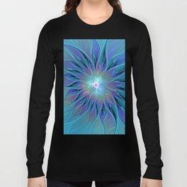 Decorative Flower Fractal Long Sleeve T-shirt