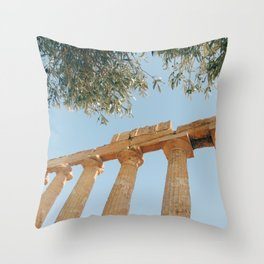 The Ancient Agrigento Temple Throw Pillow