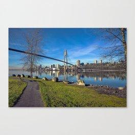 Sky-train Bridge Canvas Print