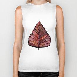 Modern leaf art | green leaves wall decal | botanical leaf decor | botanical leaves | leaf & plant Biker Tank