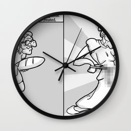 Art Print: Fun with Censorship - Granny Dong Wall Clock