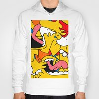 simpsons Hoodies featuring Simpsons by Startled Artist