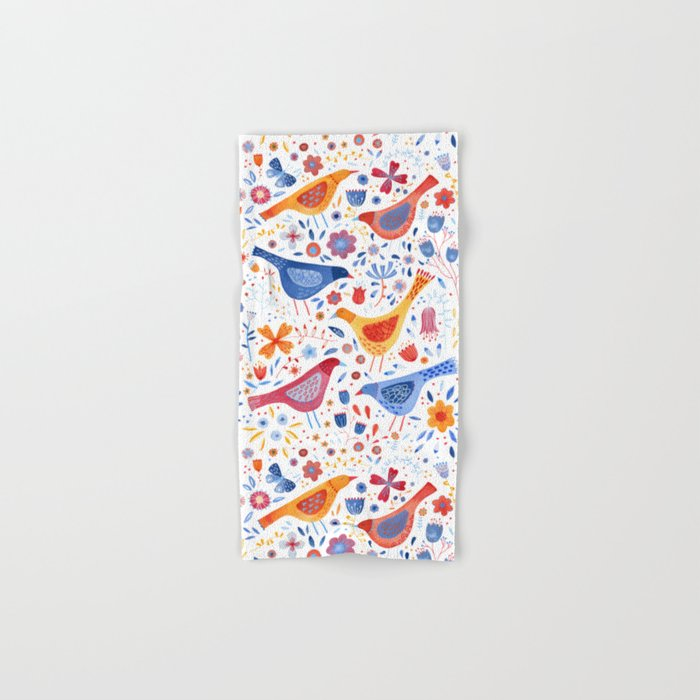 Birds in a Garden Hand & Bath Towel