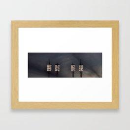 Stadium Lights Framed Art Print