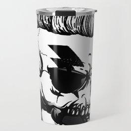 Anarchist skull art, custom gift design Travel Mug