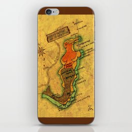Map Mermaid Cabo de Gata iPhone Skin