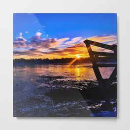 St. Patty's Day Sunrise in South Portland, Maine Metal Print
