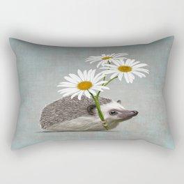 Hedgehog in love Rectangular Pillow