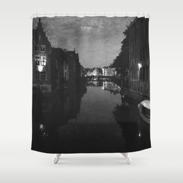 late night in Ghent  Shower Curtain