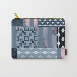 #Pink #blue #patchwork # country Carry-All Pouch