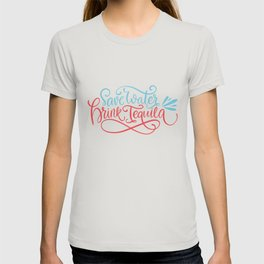 Mexico - Tequila As Water Type - Bright T-shirt