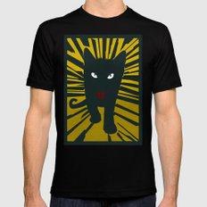 Evil Cat Black MEDIUM Mens Fitted Tee