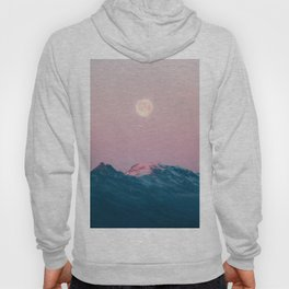 Moon and the Mountains – Landscape Photography Hoody