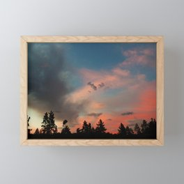Cotton Candy Clouds Framed Mini Art Print