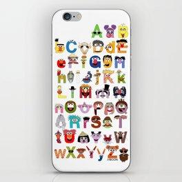 Sesame Street Alphabet iPhone Skin