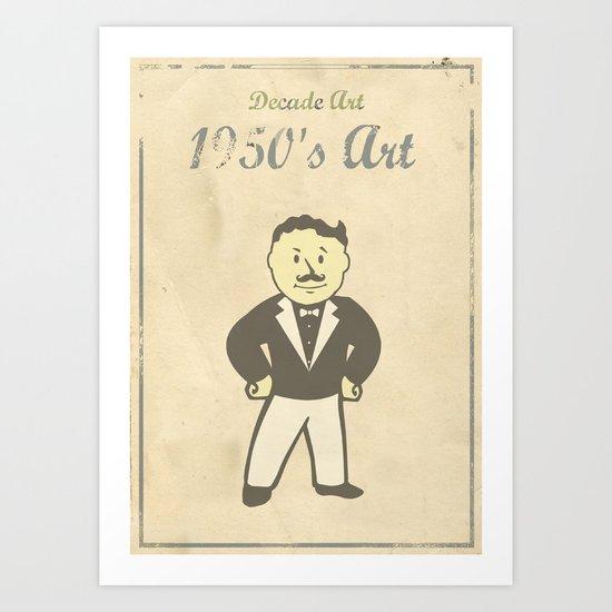 1950s Artwork Art Print