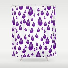 Purple Raindrops Shower Curtain