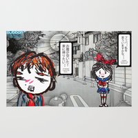 manga Area & Throw Rugs featuring Shoujo Manga  by I love Bubbah
