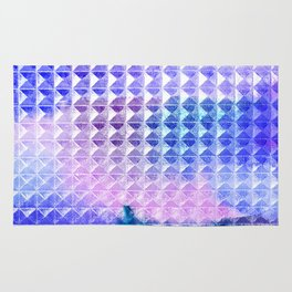 Studded Ombre Watercolor Rug