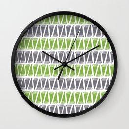 Tee Pee Greenery Wall Clock