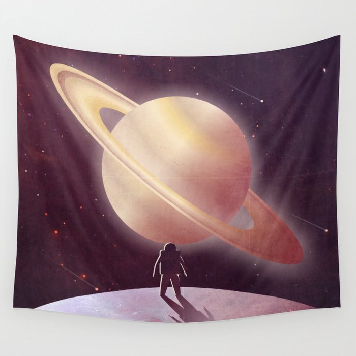 A View From Enceladus Wall Tapestry