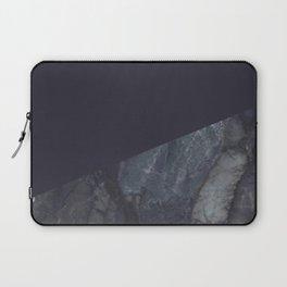 Marble Geometric Navy Blue Indigo Laptop Sleeve