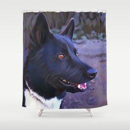 Karelian Bear Dog Shower Curtain