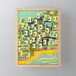 Mediterranean Coast Framed Mini Art Print