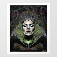 queen Art Prints featuring My Queen by Wendy Ortiz