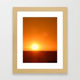Last Sunset in Cape Town Framed Art Print