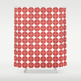 Red circle pattern Shower Curtain