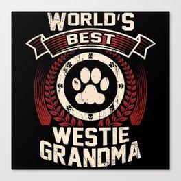 World's Best Westie Grandma Canvas Print