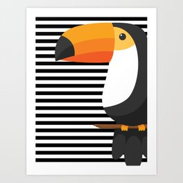 TOUCAN tropical toucans Art Print