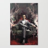 moriarty Canvas Prints featuring Jim Moriarty by Wisesnail